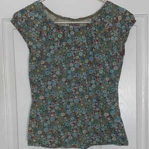 Vintage Columbia Retro Styled Floral Top